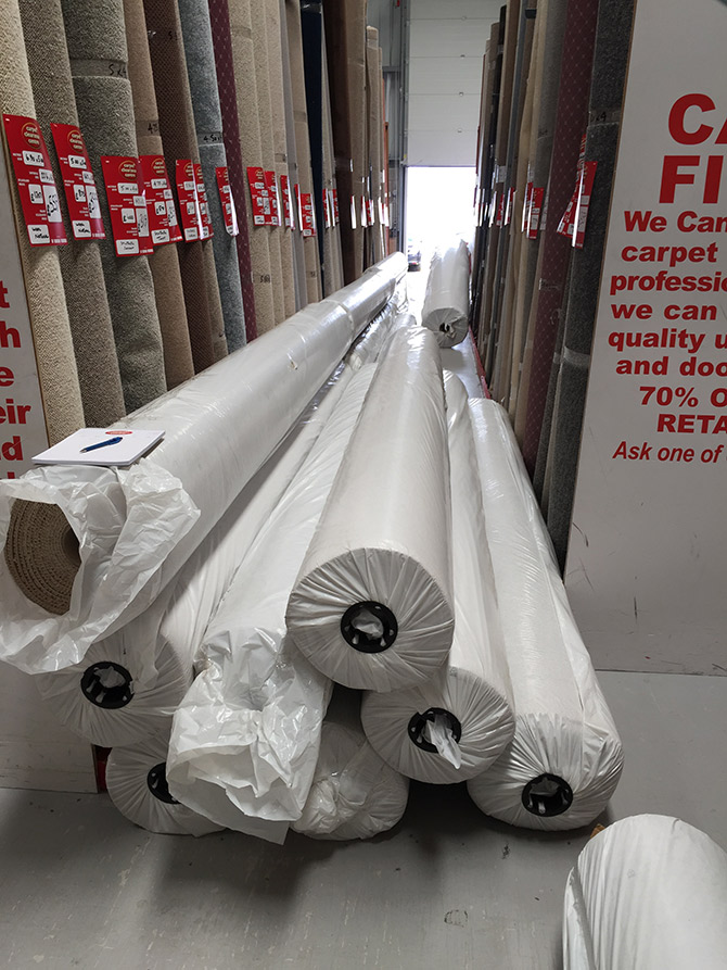 Our latest delivery of Berber carpets
